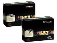 Pack 2 toners black Lexmark 64016SE