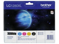 Pack van 4 cartridges Brother LC1280XL zwart + kleur