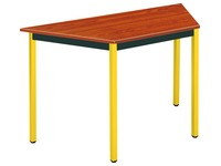 Trapeziumvormige multiconfigureerbare tafel teak