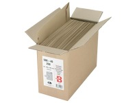 Envelopes kraft brown striped 229 x 324 mm Bruneau 90 g without window - Box of 500