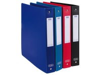 Organizer 4 rings plastic Elba Memphis A4 back 4 cm assorted colours classic frosted