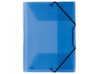 Mappen 3 kleppen doorzichtig personaliseerbaar A4 Elba - blauw