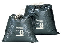 Box of 100 trash bags 50 L with ribbon H 80 x Ø 43 cm