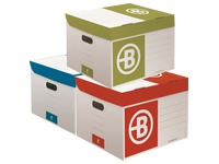 Mini Bruneau archive boxes in colored kraft