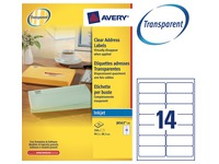Pak 350 adresetiketten Avery J 8563 99,1 x 38,1 mm voor inkjetprinter
