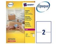 Doos 200 adresetiketten Avery L 7168 wit 199,6 x 143,5 mm voor laserprinter
