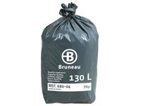 Sac poubelle gris Bruneau Qualité Supérieure 130 litres - Colis de 200