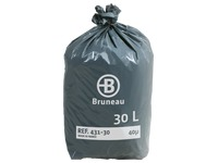 Cardboard of 200 plastic bags, standard quality < BR > 30 liters 40 microns
