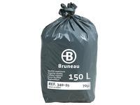 Sac poubelle gris 150 litres Bruneau qualité supérieure - Colis de 200