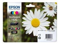 Pack von 4 Cartridges Epson 18XL Schwarz + Farbig