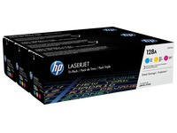 Pack de 3 toner HP 128A couleurs