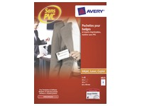 Box 20 badges Avery without clip 60 x 90 mm