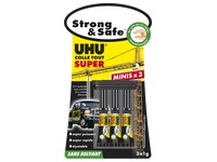 Glue UHU Strong Safe - Blister of 3