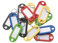 Box of 100 key rings vivid colours