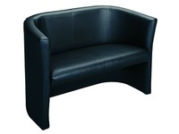 Sofa Premium 2 Personen schwarzes Vinyl