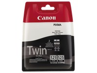 Pack van 2 cartridges Canon PGI525 zwart