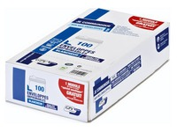 Box of 100 envelopes GPV white 110 x 220 mm printable with window 45 x 100 mm