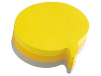 Bloc 225 sheets 3 colours Post It fantasy text balloon70 x 70 mm