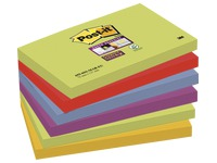 Notes colours Marrakech Super Sticky Post-it 76 x 127 mm - block of 90 sheets, 90 sheets per color.