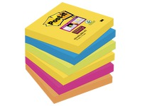 Notes colours Rio Super Sticky Post-it 76 x 76 mm - 1 bloc contains 90 sheets of 1 colour.