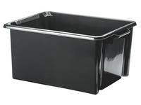 Plastic opbergdoos Strata 48,5 L zwart