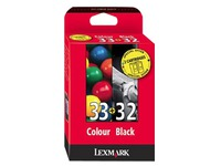 80D2951 LEXMARK TINTE (2) BLACK-COLOR