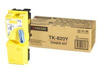 TK820Y KYOCERA FSC8100DN TONER YELLOW