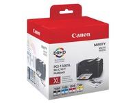 Canon PGI1500XL pack 4 cartridges hoge capaciteit zwart + kleuren voor inkjetprinter