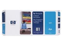 HP 81 - cyaan - printkop met reiniger (C4951A)