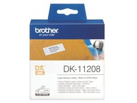 Adresetiketten papier 38 x 90 mm Brother DK11208 wit - rol van 400