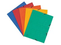 3-Flap folder with elastic band and print Exacompta 24 x 32 cm, 1.5 cm back - assorted colors