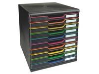 Module de classement Exacompta Modulo 10 tiroirs couleur
