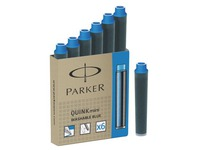 Box of 6 short ink refills for fountain pen Parker blue