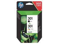 Pack cartridges HP 301 4 colours for inkjet printer