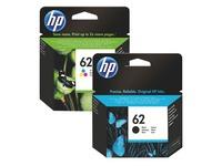 Pack cartridges HP 62 zwart + kleuren voor inkjetprinter