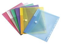 Perforated sleeves with velcro Tarifold 24 x 31,6 cm assorted colours - Pack of 12