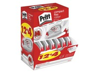 Pack of 12 + 4 dry correctors Pritt compact width 4.2 mm - length 10 m