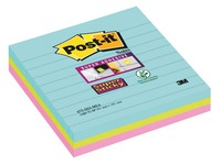 Lined notes assorted Miami colours Super Sticky Post-it 101 x 101 mm - block of 70 notes