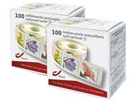 Doos van 100 postzegels bloemenmix 50 g tarief 1 nationaal
