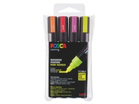 Marker Posca assorted fluo colours conical point 1.8 to 2.5 mm - Box of 4