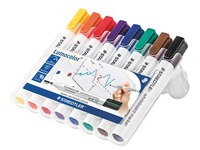 Erasable marker Staedtler Lumocolor cone tip 2 mm assorted colours - Pack of 8