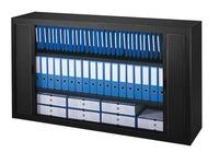 Tambour cabinet, H 100 x W 180 cm