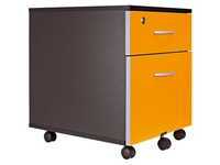 Cubo, mobile cabinet, black, 2 drawers