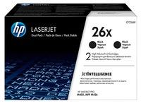 HP 26X pack 2 toners hoge capaciteit zwart
