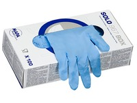 Disposable gloves Mapa latex solo 967 blue - box of 100 - size 6