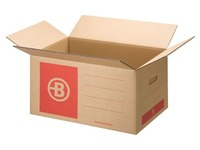 Moving box Bruneau brown kraft double undulation W 58 x H 46 x D 46 cm