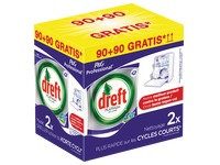 Pack dishwashing tablets Dreft Platinum: 90 tablets + 90 tablets for free