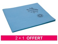Box with 2 packs of microfibre cleaning cloths MicronQuick - blue