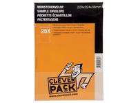 Cleverpack monsterenveloppen, ft 229 x 324 x 38 mm, met stripsluiting, wit, pak van 25 stuks