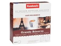 Rombouts koffiepads voor espresso, Grande Réserve, pak van 12 stuks